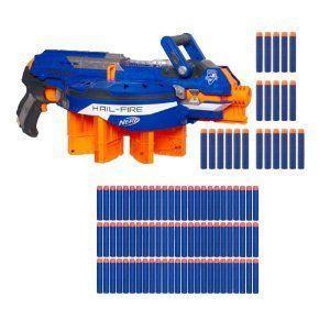 Hasbro (ハスブロ) NERF N-STRIKE ELITE HAIL-FIRE Blaster with NERF N-Strike Elite 75 Dart Refill フ