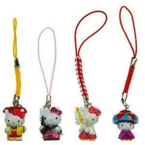 Hello Kitty(ハローキティ) 'Japan in the Past B' Mini-Figure Charm Bundle (Japanese Import) フィギ