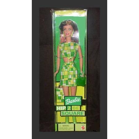 Hip 2 Be Square 赤head Barbie(バービー) Doll in 緑 Design Dress ドール 人形 フィギュア