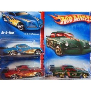 Hot Wheels (ホットウィール) At-A-Tude Set: 赤 & 青 Pr5 Web Trading Cars # 89 & The 5 Spoke Gree