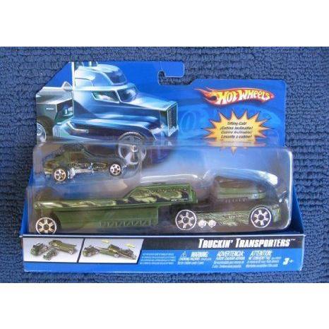 Hot Wheels (ホットウィール) トラックin Transporters ミニカー ミニチュア 模型 プレイセット自動車 ダ