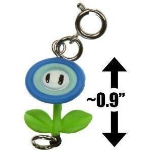 Ice Flower ~0.9 Mini フィギュア 人形 - New Super Mario (スーパーマリオ) Bros Wii Zipper Pull/Charm