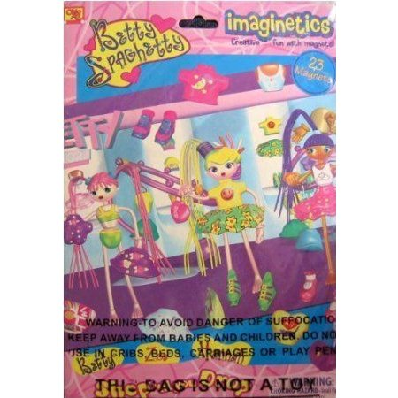 Imaginetics - Betty Spaghetty - Shop Til You Drop - Creative Fun with Magnets Playset (2003)
