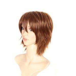 Iwatobi Swim Club Tachibana Makoto Short Anime 褐色 Cosplay Wig Anime CAP フィギュア おもちゃ 人