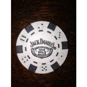 Jack Daniels old no.7 Genuine Poker Chip loose 白い フィギュア おもちゃ 人形