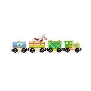Janod Story - Farm Train ブロック おもちゃ