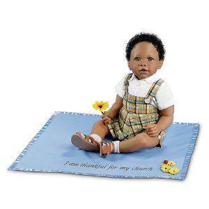 Joshua Musical Religious African Baby Doll ドール 人形 フィギュア