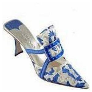 Just the Right Shoe Evening Emerald in Sapphire Porcelain Decorative Shoe Mint in Box ドール 人形