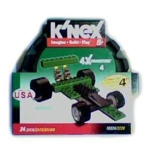 K'Nex 4x Dragster - 緑 ブロック おもちゃ