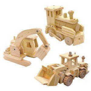 KustomWood Toy Truck or Train Building Kit EXCAVATOR ブロック おもちゃ