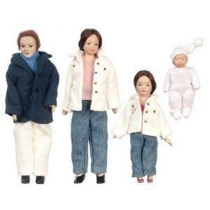Last One !!! Dollhouse (ドールハウス) Modern Porcelain Doll Family Set of 4 ドール 人形 フィギュア