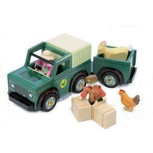 Le Toy Van Farm 4 x 4 トラック and トレーラー ミニカー ミニチュア 模型 プレイセット自動車 ダイキャ