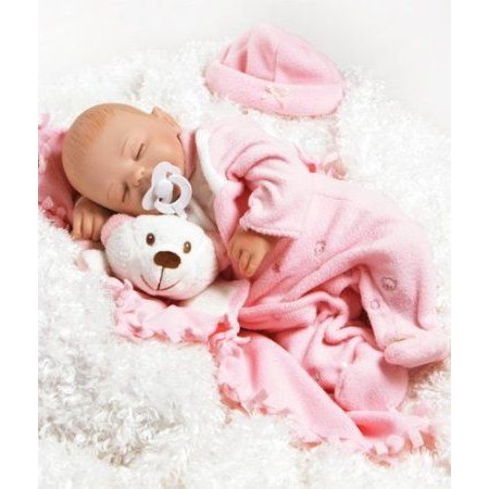 LifeLike Baby Doll, Baby Carly, 16-inch GentleTouch Vinyl with Weighted Body ドール 人形 フィギュ
