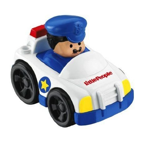 Little People Wheelies Police Car with Policeman ミニカー ミニチュア 模型 プレイセット自動車 ダイ