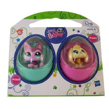 Littles Pet Shop East Egg Edition #2465 Kitten and #2466 Puppy