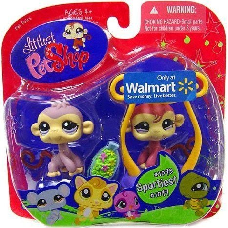 Littlest Pet Shop (リトルペットショップ) Exclusive Sportiest Pet Pairs フィギュアs Lilac Monkey an