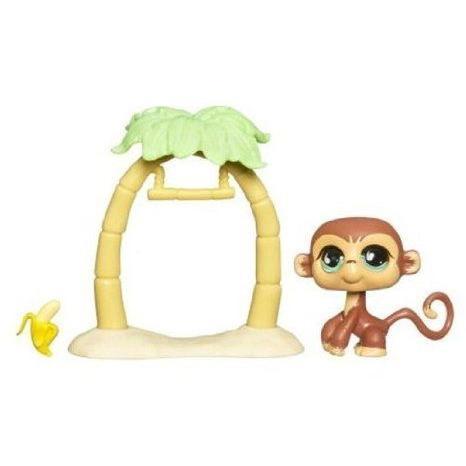Littlest Pet Shop (リトルペットショップ) Pet Pairs - Sportiest 655 - Monkey with Swing