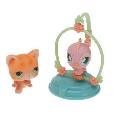 Littlest Pet Shop (リトルペットショップ) Pet Pairs フィギュアs Kitten & Bird On Perch