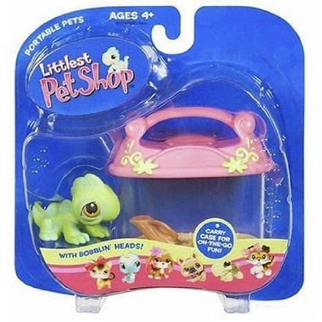 Littlest Pet Shop (リトルペットショップ) Pets On The Go フィギュア Iguana with Carry Case