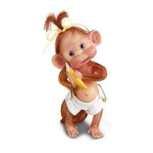 Lydia Mar Hodges Monkey Cuddles Figurine by Ashton Drake ドール 人形 フィギュア