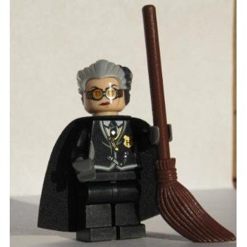 Madam Hooch (Rolanda) with Broom - LEGO (レゴ) Harry Potter (ハリーポッター) Minifigure ブロック
