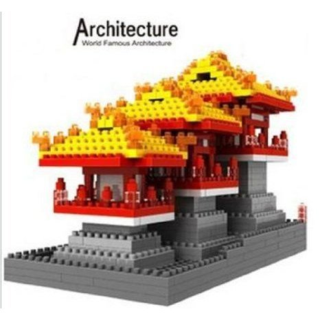Magnificent Architecture Daming Palace Blocks Building Puzzle 740 ピース Xmas Gift ブロック おもち