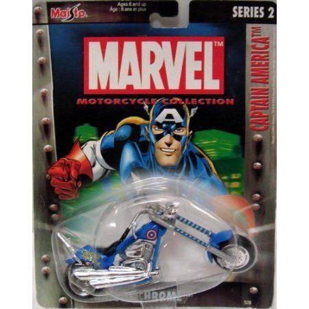 Maisto (マイスト) ~ Marvel ~ Motorcycle コレクション ~ Captain America (Series 2) ミニカー ミニチ
