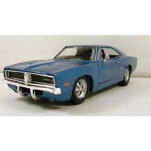 Maisto (マイスト) 1969 Dodge (ドッジ) Charger R/T 1:24 scale 8 diecast model car Brand New 青 ミ