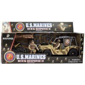 Marines USMC Quick Response II Bunker Defender with アクションフィギュアs
