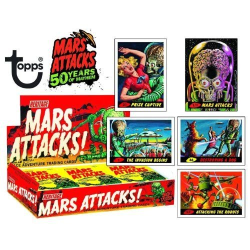 Mars Attacks! Space Adventure Cards Sealed Case of 8 Boxes Of 24 Packs フィギュア ダイキャスト 人