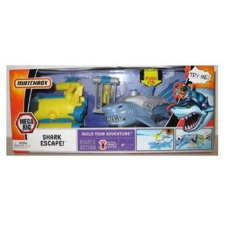 Matchbox (マッチボックス) Mega Rig Adventure Pack: Shark Escape ミニカー ミニチュア 模型 プレイセ
