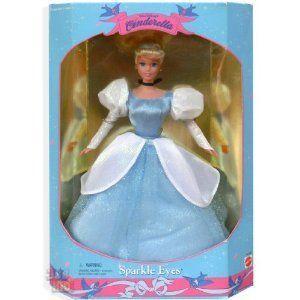 Mattel (マテル社) Walt Disney's (ディズニー) Sparkle Eyes Cinderella ドール 人形 フィギュア