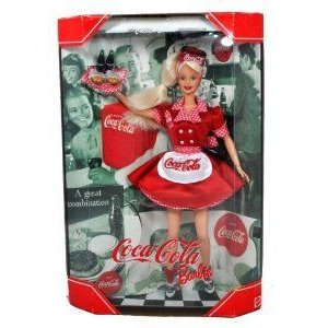 Mattel (マテル社) Year 1998 Barbie(バービー) Collector Edition: Coca-Cola Barbie(バービー) as a Wa