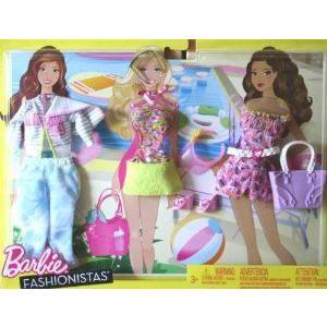 Mattel-Barbie(バービー) Fashionistas My Fab Life Fashions Beach ドール 人形 フィギュア