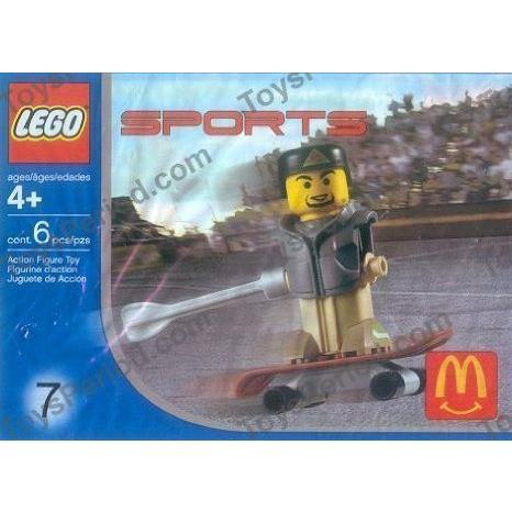 McDonald's (マクドナルド) Lego (レゴ) Sports 2004 Toy #7 Skateboarding ブロック おもちゃ