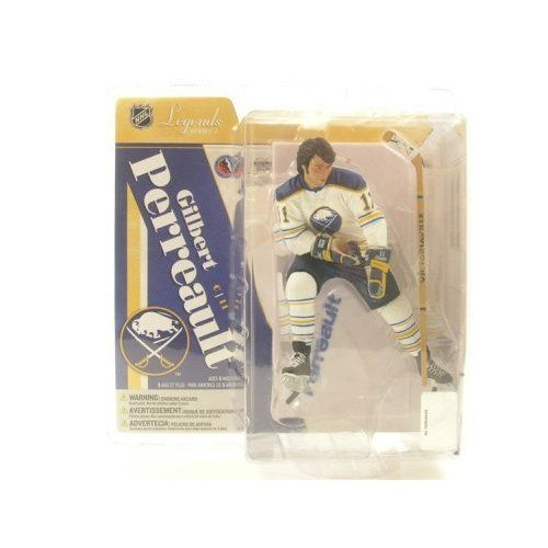 McFarlane マクファーレン Toys 6 NHL Legends Series 4 Gilbert Perreault# 11 in a Dark 青 Jersey