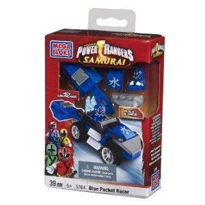 Mega Bloks (メガブロック) Power Ranger (パワーレンジャー) 青 Pocket Racer ブロック おもちゃ