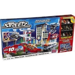 Mega Bloks Deluxe Pursuit Streetz Super Set ミニカー ミニチュア 模型 プレイセット自動車 ダイキャス
