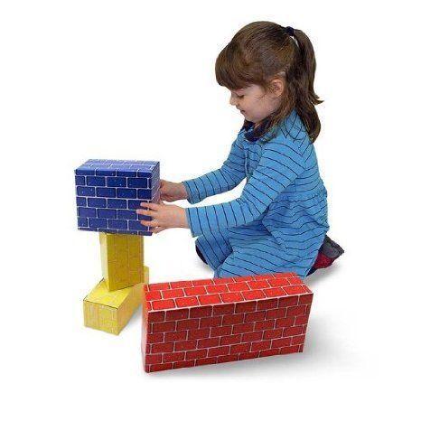 Melissa & Doug (メリッサ&ダグ メリッサ アンド ダグ) Jumbo Cardboard Blocks (24 pc) ブロック おも