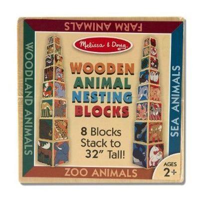 Melissa & Doug (メリッサ&ダグ メリッサ アンド ダグ) Wooden Animal Nesting Blocks ブロック おもち