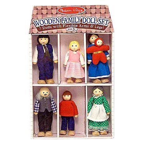 Melissa & Doug (メリッサ&ダグ メリッサ アンド ダグ) Wooden Family Doll Set ドール 人形 フィギュ