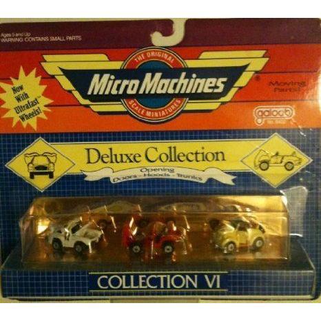 Micro Machines Deluxe コレクション VI ミニカー ミニチュア 模型 プレイセット自動車 ダイキャスト