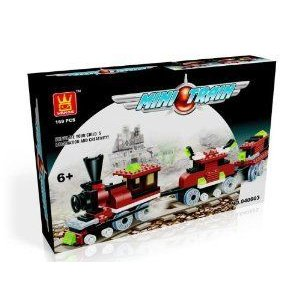 MINI TRAIN - BUILDING BLOCKS 169 pcs set 40603 in NICE GIFT BOX ! novelty ! LEGO (レゴ) compatible