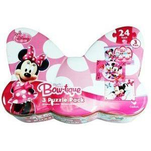 Minnie Bowtique Collector Tin with 3 Puzzles フィギュア おもちゃ 人形