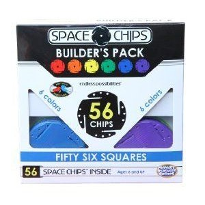 Monkey Business Sports Space Chips Builder Pack - Square (56 ピース) ブロック おもちゃ