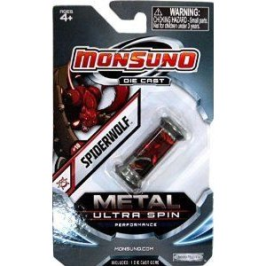 Monsuno Die Cast Metal Ultra Spin Core #10 Spiderwolf Eklipse ブロック おもちゃ