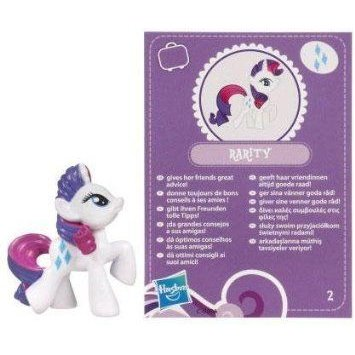 My Little Pony (マイリトルポニー) Friendship is Magic 2 Inch PVC Figure Rarity 紫の Card ドール