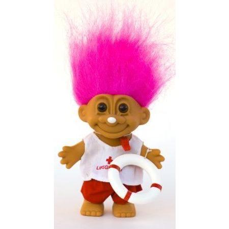 My Lucky LIFEGUARD Troll Doll (ピンク Hair) ドール 人形 フィギュア
