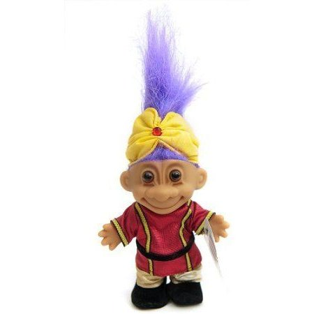My Lucky Troll from India (紫の Hair) ドール 人形 フィギュア