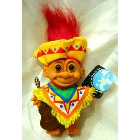 My Lucky Troll from MEXICO 赤 Hair ドール 人形 フィギュア